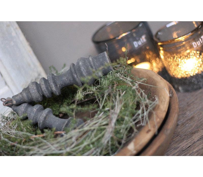 Aura Peeperkorn zwart houten klosje 17 cm
