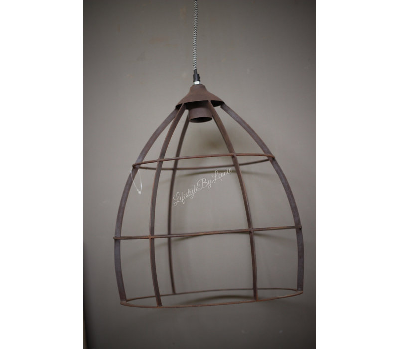 Hanglamp kooi roest 43 cm