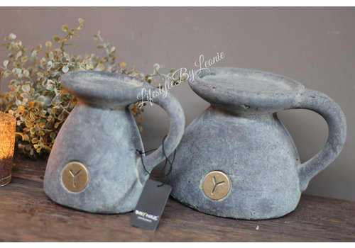 Brynxz Brynxz stenen kandelaar 'Ear de luxe' 14cm