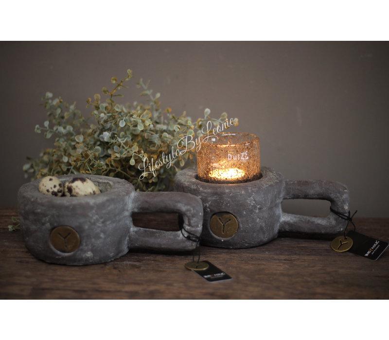 Brynxz stenen lepel kandelaar 20 cm