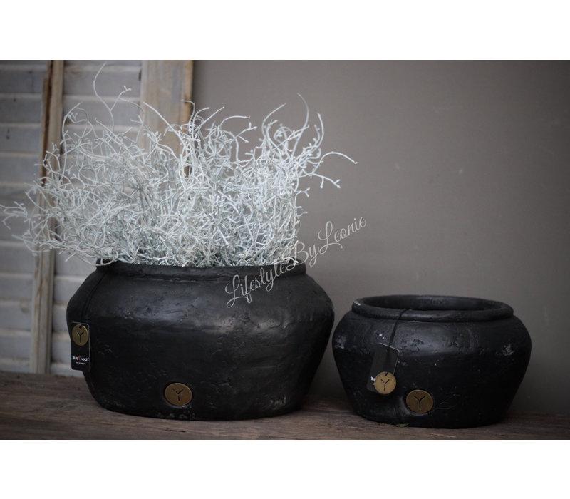 Brynxz zwarte ronde pot 31 cm