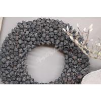 Krans Coco fruit black 55 cm