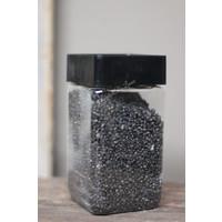 Bakje zwart decoratie gravel