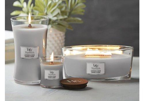WoodWick WoodWick Lavender en cedar hearthwick flame