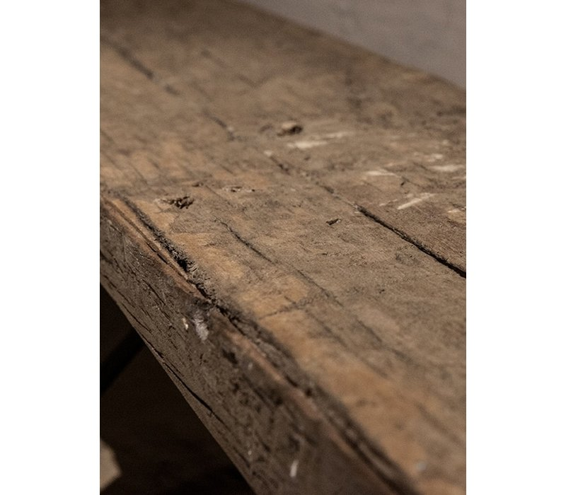 Oude houten Rail way wandplank 80 cm