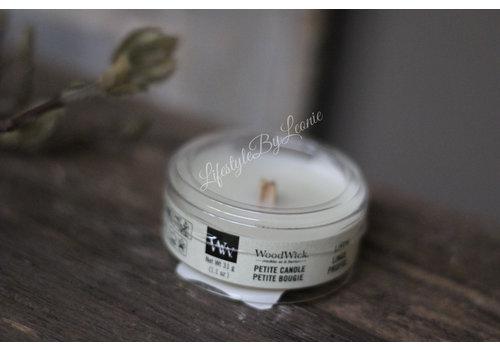 WoodWick WoodWick Linen petite candle