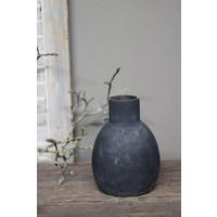 Sobere glazen vaas Old black 20 cm