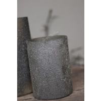 Sobere glazen waxinelichthouder Old brown 20 cm
