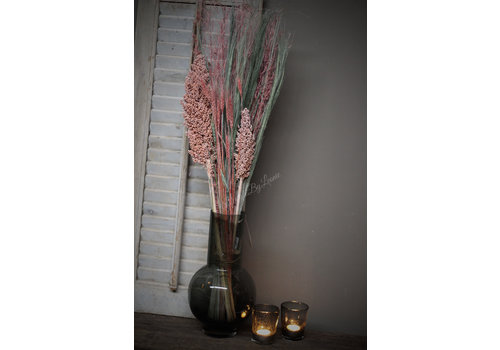 Groot boeket gedroogde bloemen Demy 80 cm