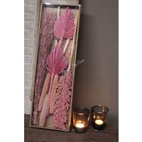 DIY droogboeket in box Pink 57 cm