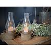 Roest / glazen waxinelichthouder Oil
