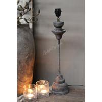 Lampvoet ornament  met hout en ijzer