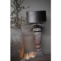 Velvet cilinder lampenkap Zinc taupe 30 cm