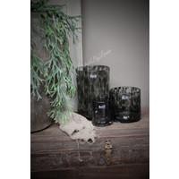 DUTZ cilinder windlicht Black panter 14 cm