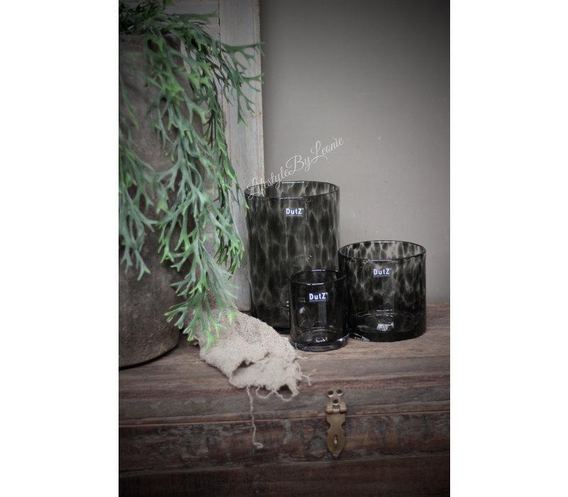 DUTZ cilinder windlicht Black panter 10 cm