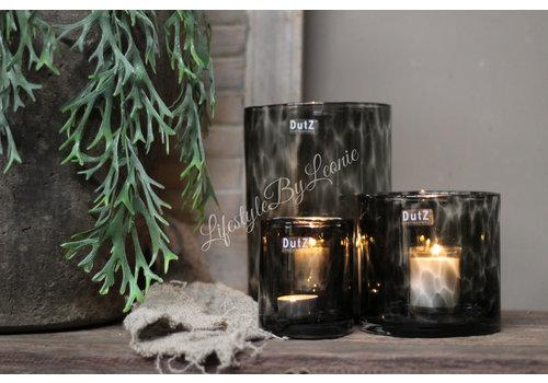 Dutz DUTZ cilinder windlicht Black panter 10 cm