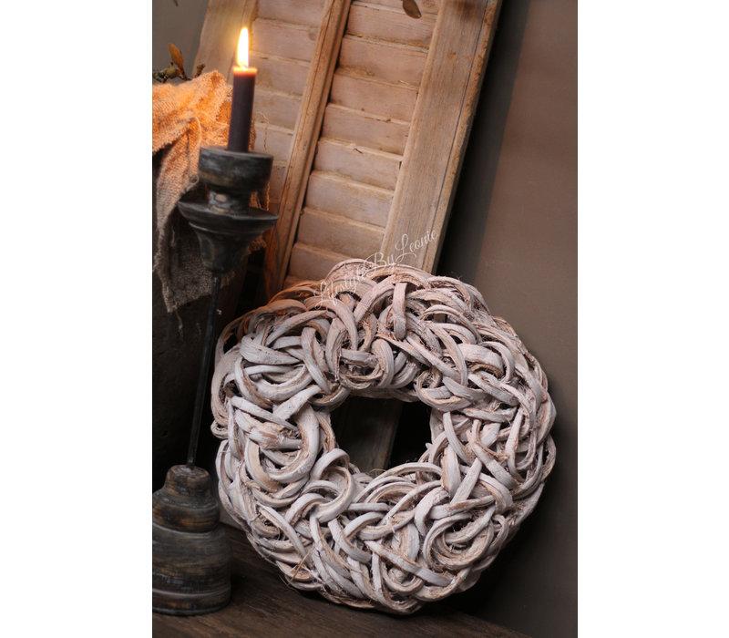 Krans Coco slice white 40 cm