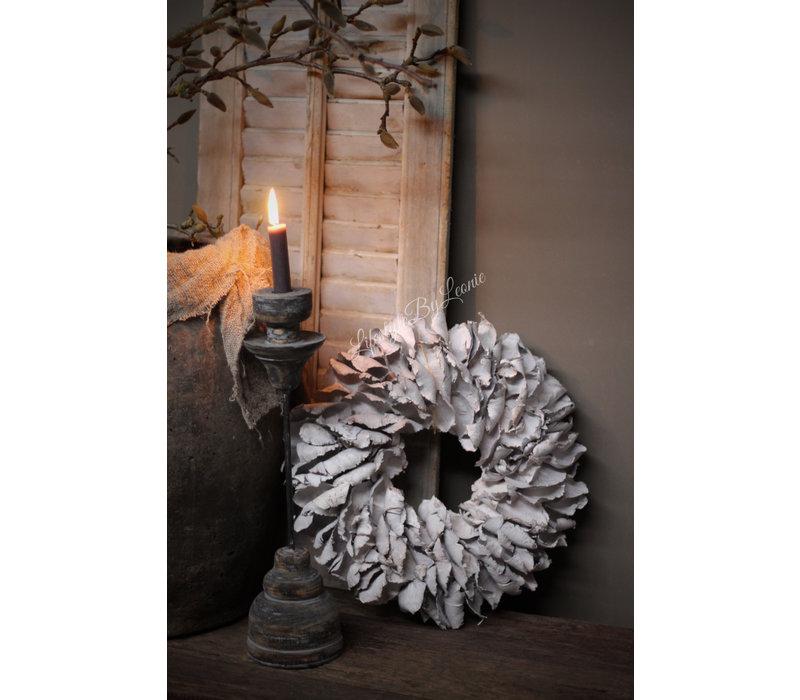 Krans Palm Petal white 40 cm