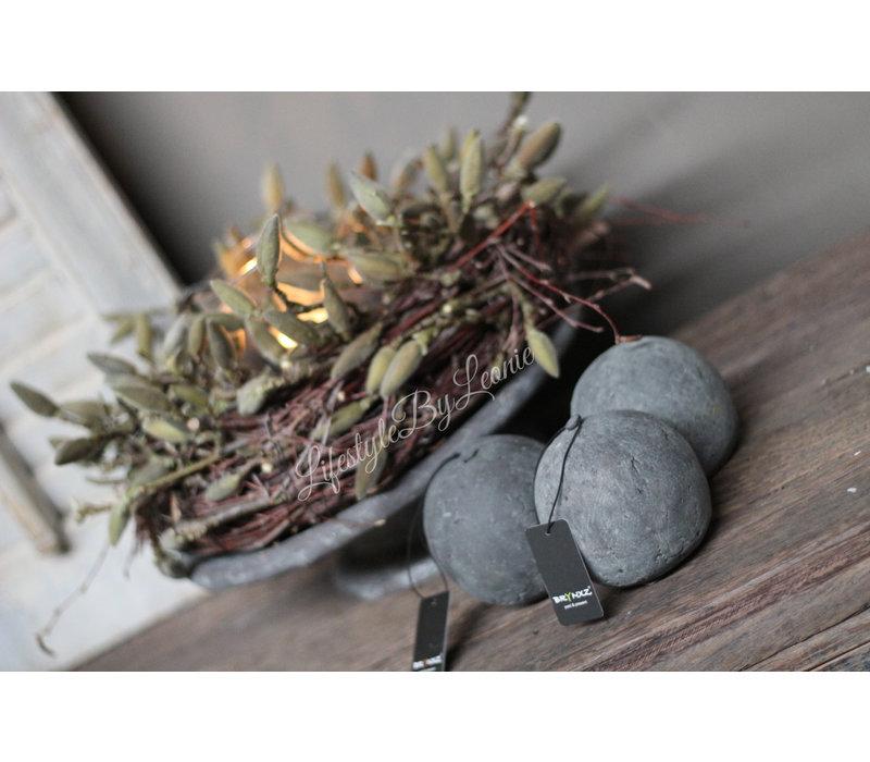 Brynxz Majestic stenen decobal 9 cm