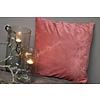 Kussen velvet rib Redwood 45 cm