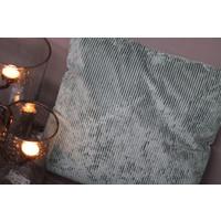 Kussen velvet rib Pastel green 45 cm