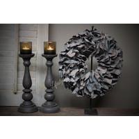 Krans Palm Petal dark grey 40 cm