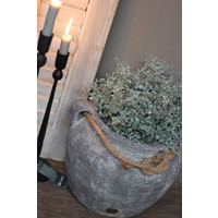 Brynxz grote stenen kruik met touw 29 cm