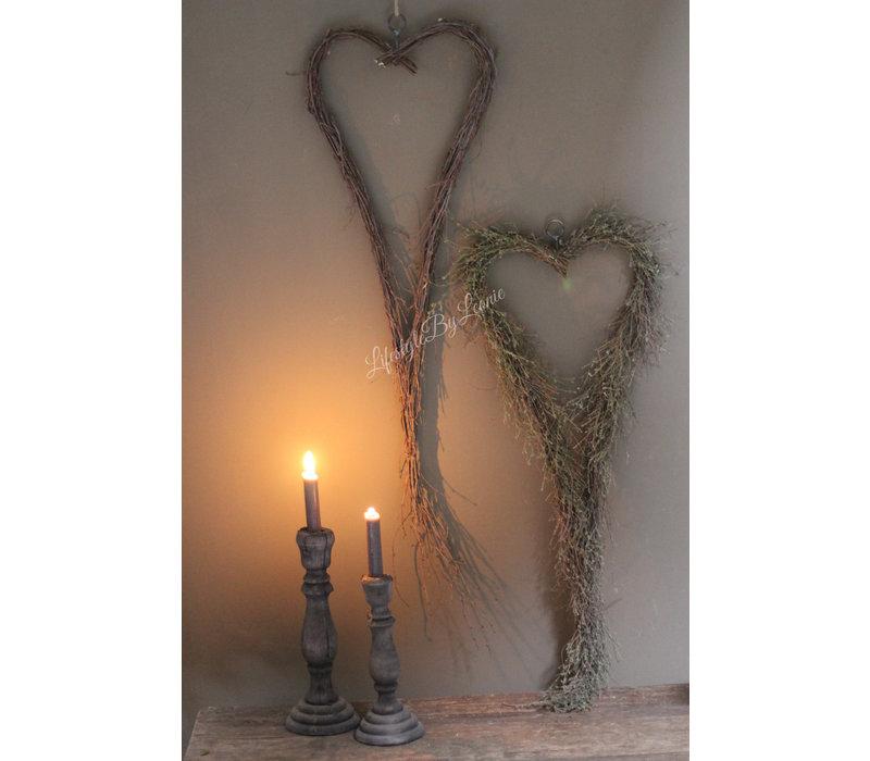 Metalen hart opgemaakt met wilde tijm 75 cm