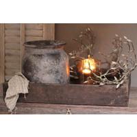Stenen kruik / pot Bali brown 25cm