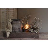 Stenen kruik / pot Bali brown 25 cm