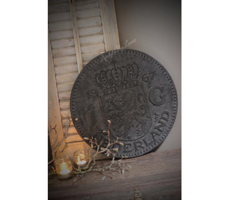 Wanddecoratie Gulden black wash 50 cm