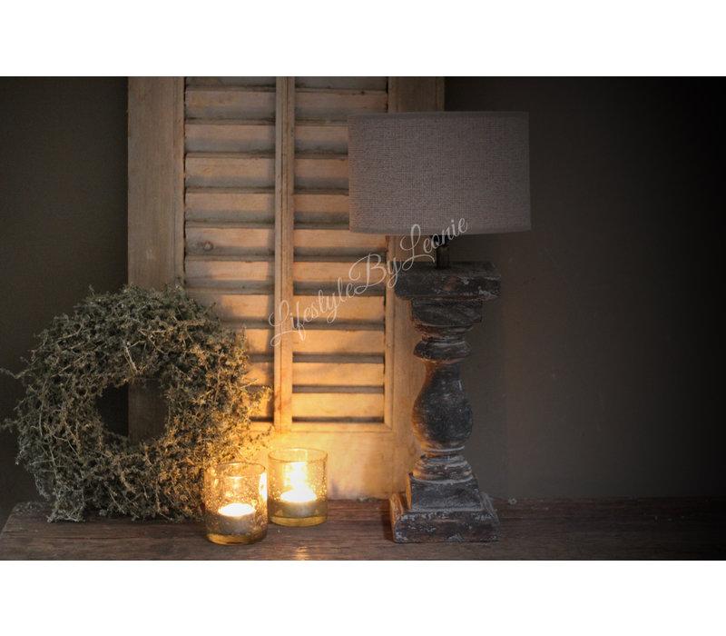 Baluster Lampvoetje grey wash - maat S
