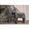 Houten paardje grijsbruin - maat S