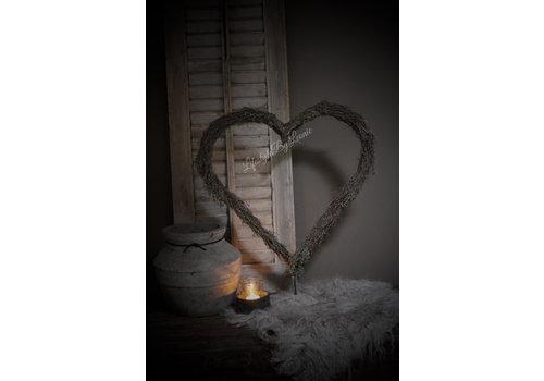 Metalen staand hart frame met wilde tijm