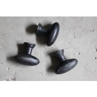 Smeedijzeren deurknopje voor kast Old black