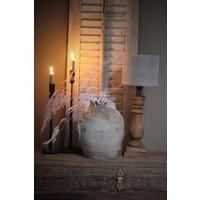 Robuuste houten baluster lampvoet Dark wood 40 cm