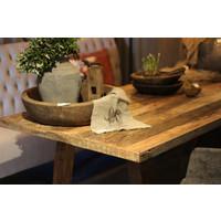 Eettafel oude houten planken 220 x 90 cm