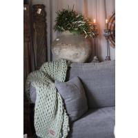 Brynxz plaid Knitted pastel green 150 cm