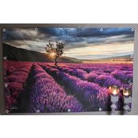 Tuinposter Zuid-Frans Lavendel veld 120 cm