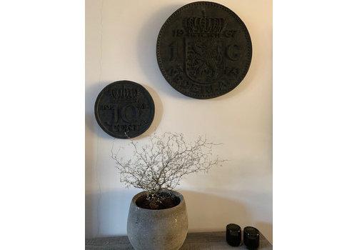 Wand deco gulden Black wash 50cm