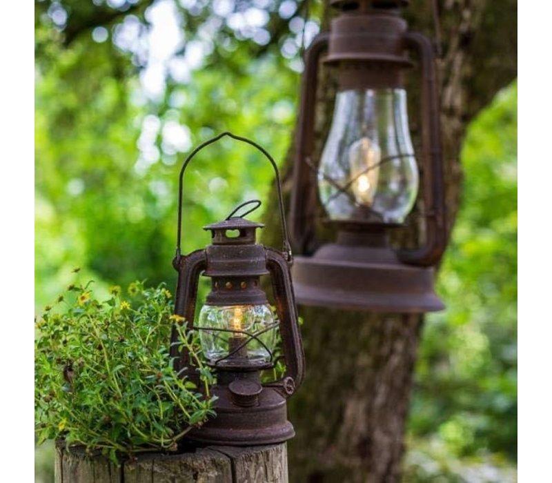 Roestige LED lantaarn Oil 20 cm