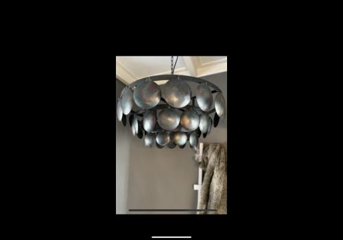 Metalen Old black schijfjes hanglamp incl fitting 60cm
