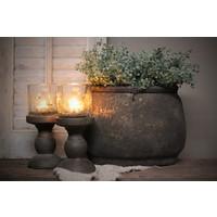 Ovale stenen pot Classy brown 25 cm
