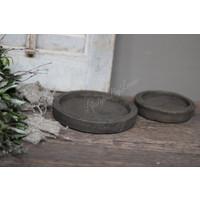 Stenen onderzetter / plate Classy brown - maat S