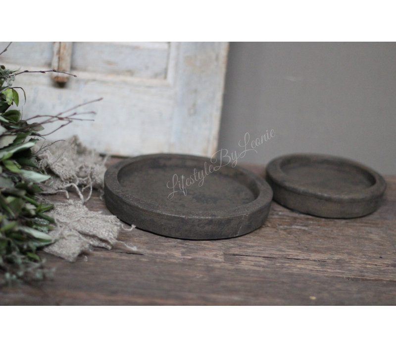 Stenen onderzetter / plate Classy brown - maat M