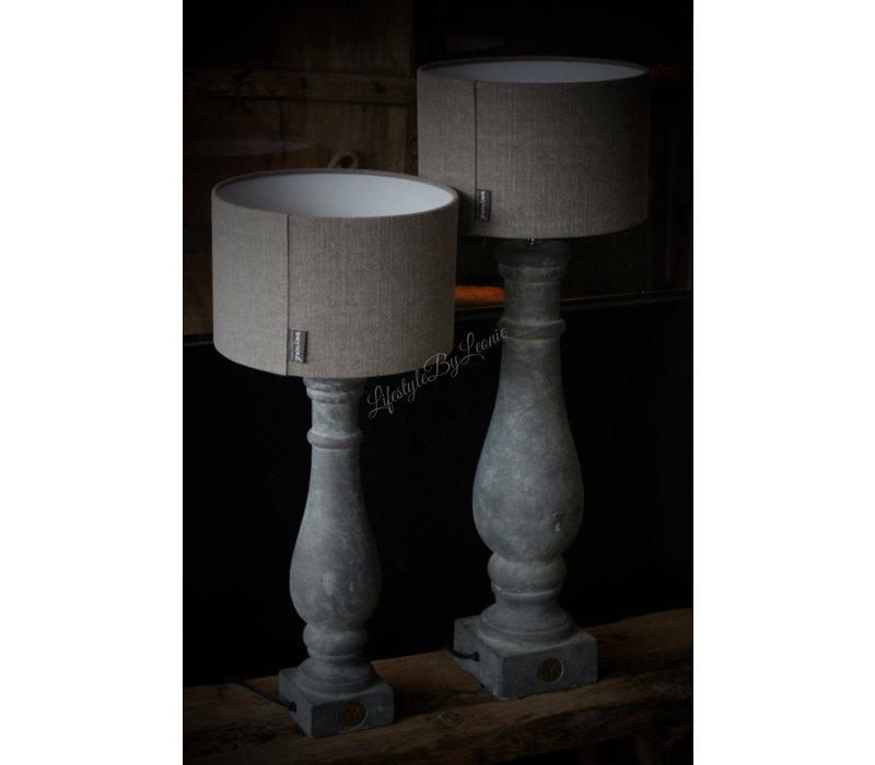 Brynxz grote stenen baluster lampvoet 45 cm