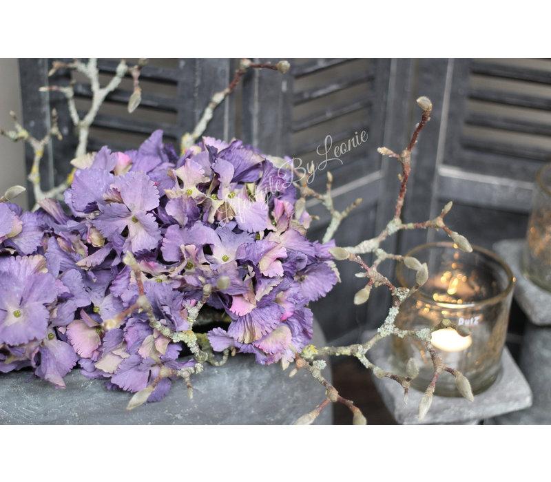 Brynxz zijden Hortensia tak paars 53 cm