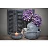 Brynxz Brynxz zijden Hortensia tak paars 53 cm