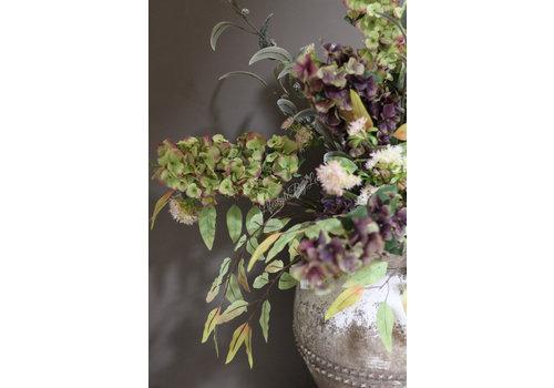 Brynxz Brynxz zijden Hortensia tak old green 97 cm