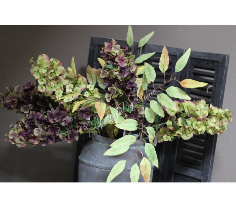 Brynxz namaak tak met groene blaadjes 84 cm